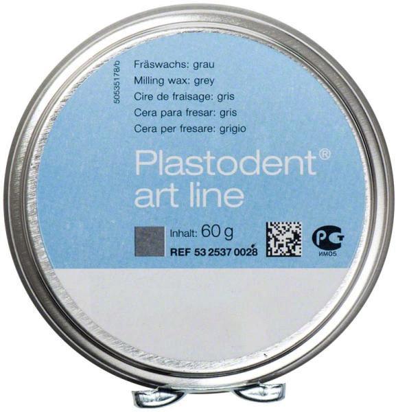 Plastodent Art-Line Fräswachs, grau, 60 gr