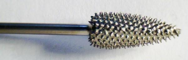 Karbidfräser Flamme, lang, 2,35 mm Schaft